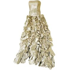 "1stdibs - OSCAR DE LA RENTA ""RED CARPET""  GOLD FOIL LAME GOWN explore items from 1,700  global dealers at 1stdibs.com"