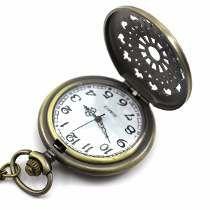Hermoso Reloj De Bolsillo,collar, Llavero,bronce,vintage,hm4