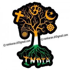 Diversity rooted in The Idea of ~ Unity in Diversity, @ Incredible India, : ramkaran-d. via Diversity rooted in The Idea of ~ Unity in Diversity, @ Incredible India, : ramkaran-d. Independence Day Drawing, Happy Independence Day India, Diversity Poster, Unity In Diversity, Incredible India Posters, Indian Flag Wallpaper, India Art, India India, Spirituality
