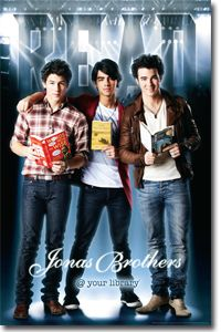 The Jonas Brothers ... This poster will be in my library. ;-)  Nick: Words from the Wise.  Joe: The Alchemist.  Kevin: A Wrinkle in Time.