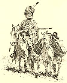 A Fur Trapper or A Mountain Man : believed to be some of the first Europeans along with Portugese, and Spanish Explorers to Rocky Mountain National Park. Artist Frederick Remington portrayed a dauntless mountain man. Frederic Remington, Fur Trade, Indian Tribes, American Frontier, Rocky Mountain National Park, Mountain Man, Old West, Western Art, American History