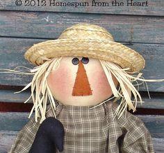 Primitive Scarecrow doll pattern Halloween Fall par CindysHomespun