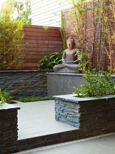 planter des bambous, jardin zen