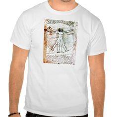 263f3d4853f355 THE VITRUVIAN MAN Antique Parchment T Shirt