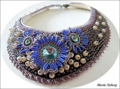 Flower necklace by ByMaja on Etsy, $370.00