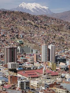 Aerial view of La Paz, the highest capital in the world. Nuestra Señora de La Paz is the seat of government of Bolivia, and the second largest city in the country after Santa Cruz de la Sierra. Photo by rolanlopez