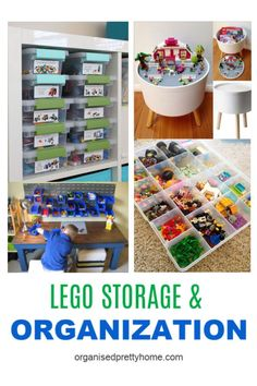 The Best Way To Store Lego - Organised Pretty Home Lego Storage, Kids Storage, Storage Ideas, Storage Solutions, Toy Room Organization, Small Space Organization, Clutter Free Home, Lego For Kids, Small Space Storage