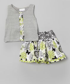 skirt and embellished top