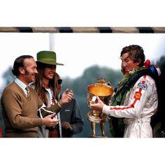 Colin Chapman, Nina and Jochen Rindt - Lotus - British Grand Prix - 1970.