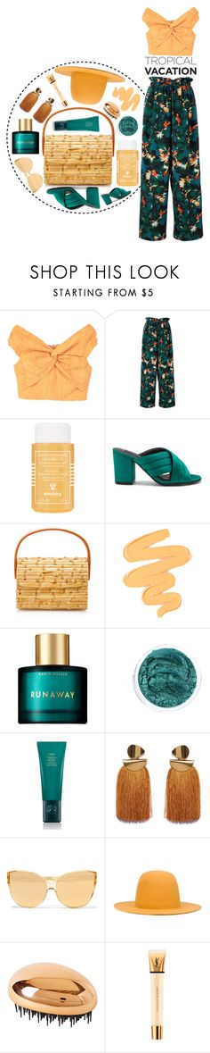 """Welcome to Paradise: Tropical Vacation"" by arodkilark ❤ liked on Polyvore featuring MANGO, Estnation, Sisley, Steven, Glorinha Paranagua, Sigma, Karen Walker, Oribe, Lizzie Fortunato and Linda Farrow"