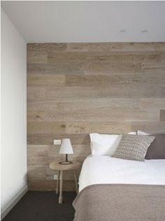 white washed wood wall, Bedroom