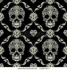 Skull Ornamental Pattern by gurita_hitam, via Shutterstock
