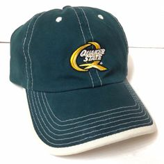 c87a9a04987 QUAKER STATE HAT Dark Green Motor Oil Car Truck Relaxed-Fit Dad Cap Men