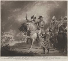 King George III (1738-1820, Reigned 1760-1820) Reviewing the Third or Prince of Wales's Regiment of Dragoon Guards & the Tenth or Prince of Wales's Regiment of Light Dragoons
