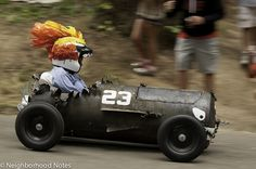 Portland Adult Soapbox Derby at Mt Tabor park race via Neighborhood Notes. Go #23!