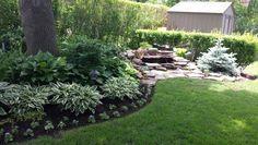 Waterfall pond gardening
