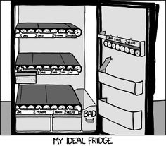 xkcd - The Ideal Refrigerator