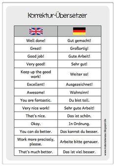 Korrektur #German #Deutsch