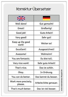 Korrektur #German #Deutsch