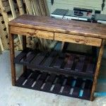 Kitchen Island Made With Pallets reclaimed pallet kitchen island table | pallet kitchen island