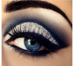Silver eye makeup with plum instead of the navy?