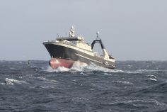 """""""Granit IV"""" in rough sea"""