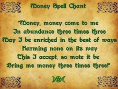 Money chant. We all need this once in a while ;)