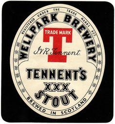 Tennent's Bottle Beer Label 64