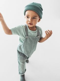 Long straight neck denim overalls with adjustable snap button suspenders. Front and back pockets. Denim Dungaree Shorts, Salopette Jeans, Denim Overalls, Toddler Boy Outfits, Toddler Boys, Kids Boys, Kids Outfits, Baby Outfits, Modest Outfits
