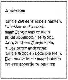 "Versje ""Andersom"" *liestr* Fruit, Restaurant, Math, Logo, School, Logos, Math Resources, Restaurants, Schools"