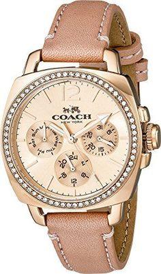 Loving this watch.     COACH Women's Boyfriend Small 34mm Leather Strap Watch…