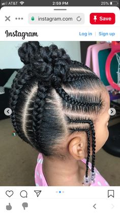 Black Little Girl Hairstyles, Black Girl Braided Hairstyles, Baby Girl Hairstyles, Natural Hairstyles For Kids, Natural Hair Styles, Little Girl Braids, Black Girl Braids, Braids For Kids, Kids Cornrow Hairstyles