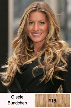 Gisele Bundchen – Long Wavy Casual...  This hairstyle has plenty of movement and shape best suited for those looking for a fun and flirty hairstyle to compliment a long face shape. It is a beautiful layered look and easy to re-create with a blow-roots, rollers or curling iron.
