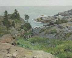"""Monhegan Island,"" Frederick Judd Waugh, oil on canvas, 25 x 30"", private collection."