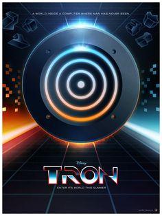 Tron: Poster trilogy by James White, via Behance