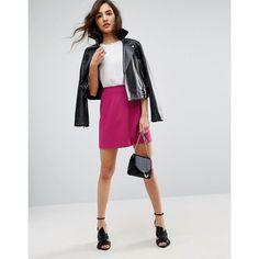 ASOS Tailored A-Line Mini Skirt ($28) ❤ liked on Polyvore featuring skirts, mini skirts, pink, a line mini skirt, tall skirts, short skirts, high-waisted skirts and mini skirt