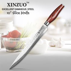 Like and Share if you want this  Damascus Sashimi Knife - Xinzuo 10 inch Sashimi Knife Damascus Merchant    Buy Now at DamascusMerchant.com - FREE Shipping Worldwide    Damascus Sashimi Knife - Xinzuo 10 inch Sashimi Knife Damascus Merchant
