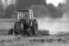 Old Case Tractor monochrome British Farming Images pictures
