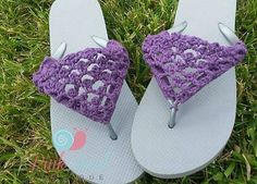 Peekaboo Flip Flops free crochet pattern by Pink Snail Boutique available only on Cre8tion Crochet