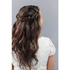 How To Braided Wedding Hair for Beginners ❤ liked on Polyvore featuring beauty products, haircare, hair styling tools, hair, beauty and hair styles
