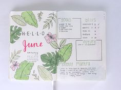 Learn how I set up my monthly pages in my bullet journal!