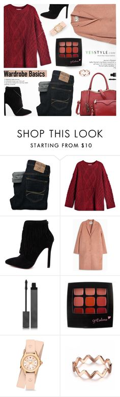 """YesStyle - 10% off coupon"" by jiabao-krohn ❤ liked on Polyvore featuring Hollister Co., Acne Studios, Burberry, Michele, Winter and yesstyle"