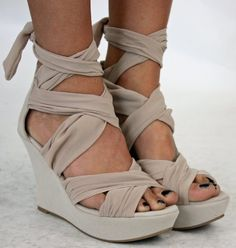 Wedge Heel Shoes Womens Nude Beige Wedges Platform Sandals
