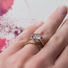 Pin for Later: 41 Real-Girl Engagement Rings You'll Obsess Over This Season In Bloom