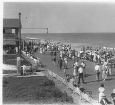 August 30, 1930.  Rehoboth Beach Boardwalk view from Belhaven.  From the Board of Agriculture Glass Negative Collection at the Delaware Public Archives.
