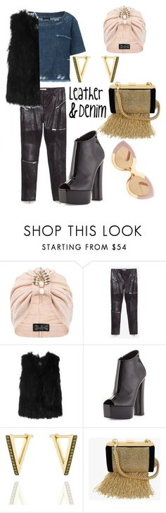 """""""Untitled #86"""" by muvaswan ❤ liked on Polyvore featuring Rachel Comey, The Future Heirlooms Boutique, Zara, SLY 010, Giuseppe Zanotti, Noor Fares, Balmain and Karen Walker"""
