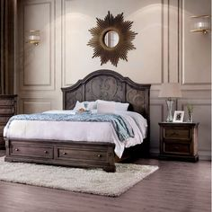 Shop for Gracewood Hollow Obreht Rustic Walnut Bedroom Set. Get free delivery On EVERYTHING* Overstock - Your Online Furniture Shop! Contemporary Bedroom, Furniture Of America, Wood Beds, Bed, Furniture, Bedroom Set, Big Furniture, Bedroom, Wooden Bedroom