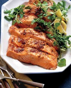 Salmon with Brown Sugar and Mustard Glaze. Follow @MS_Living on Pinterest for more exclusive recipes and inspiration from the editors of Martha Stewart Living.