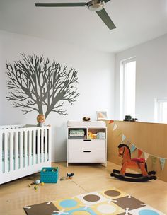 25 Stylish Nursery Finds for Less Than $100 #dwell #shopping #nursery #babyroom #kidsroom Modern Nursery Furniture, Nursery Modern, Kids Furniture, Baby Bedroom, Baby Room Decor, Girls Bedroom, Ikea Sniglar Crib, Bedroom Images, Bedroom Layouts