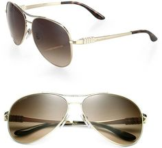 ddbb6a0562 Bvlgari Chevron 61mm Aviator Sunglasses. Kent · Chrome Hearts Sunglasses
